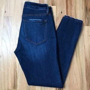 Ann Taylor Loft skinny cropped jeans stonewash